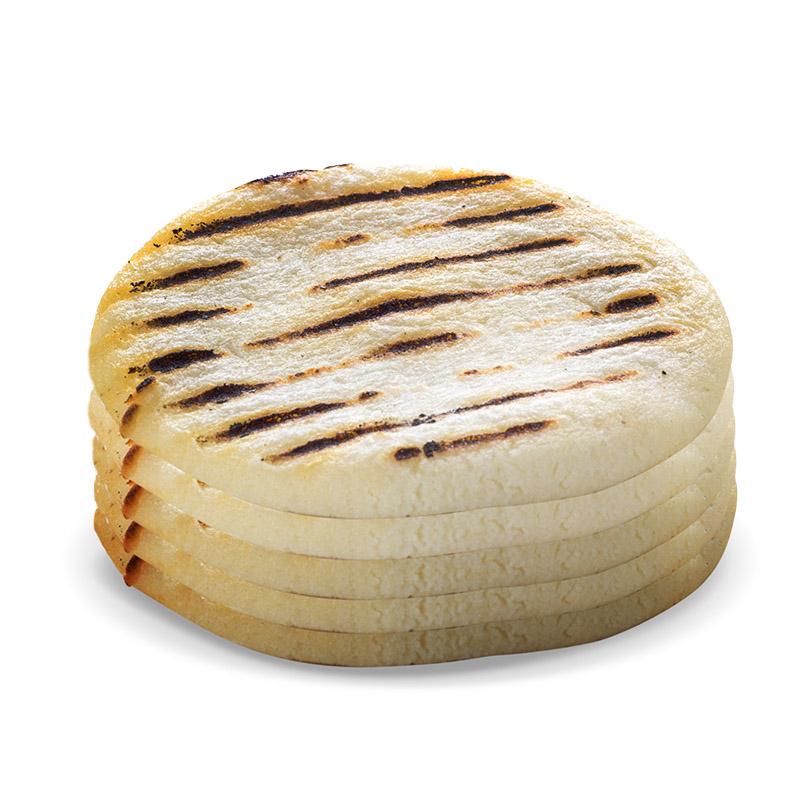 white corn arepa